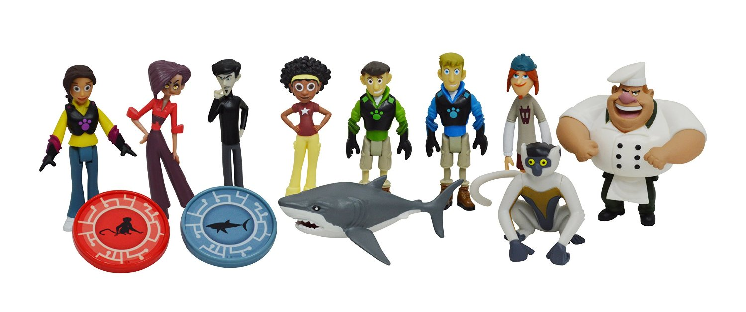 Wild Kratts Toys 10-Pack Action Figure Gift Set by Wild Kratts
