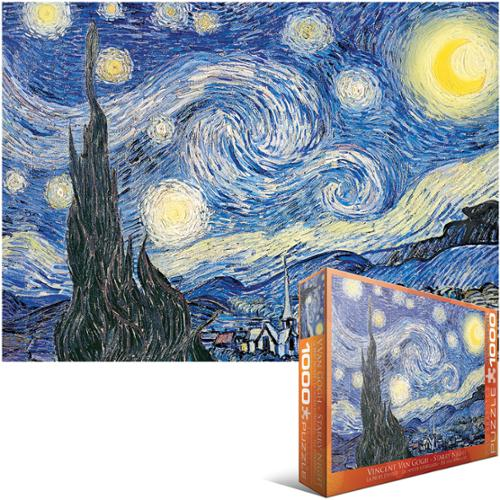 "Jigsaw Puzzle 1000 Pieces 19.25""X26.5""-Van Gogh - Starry Night"