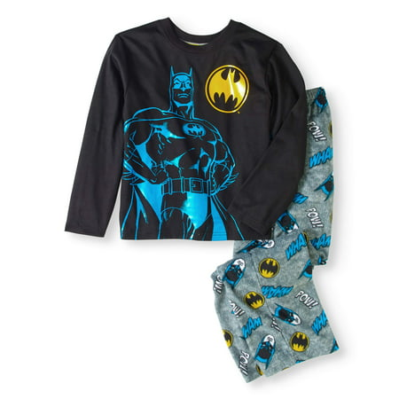 Boy's Batman 2 Piece Pajama Sleep Set (Big Boys & Little - Batman Pajamas Adults