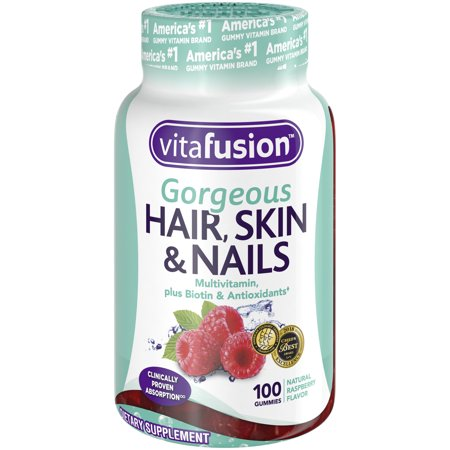 Vitafusion Gorgeous Hair, Skin & Nails Multivitamin Gummy Vitamins, (Vitamins Hair Follicles)
