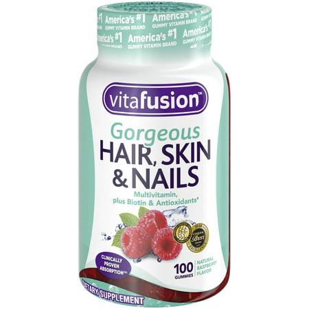 Vitafusion Gorgeous Hair, Skin & Nails Multivitamin Gummy Vitamins, (Stronger Hair Nails)