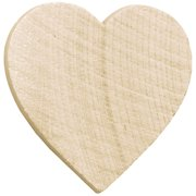 "Wood Turning Shapes-Standard Heart .75""X.75""X.125"" 8/Pkg"