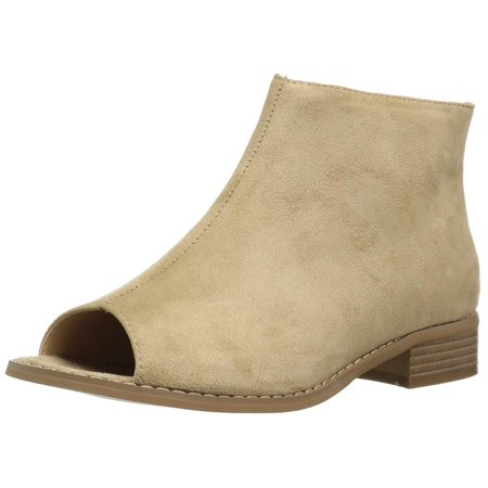 Journee Collection Womens Reya Peep Toe Ankle Fashion Boots