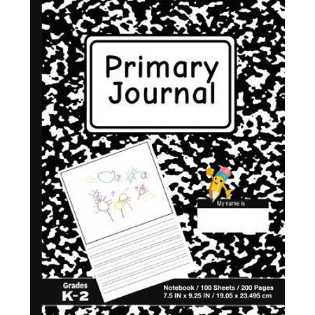 Primary Journal : School Marble Black - Grades K-2, Creative Story Tablet - Primary Draw & Write Journal Notebook For Home & School (The Best Tablet For School)
