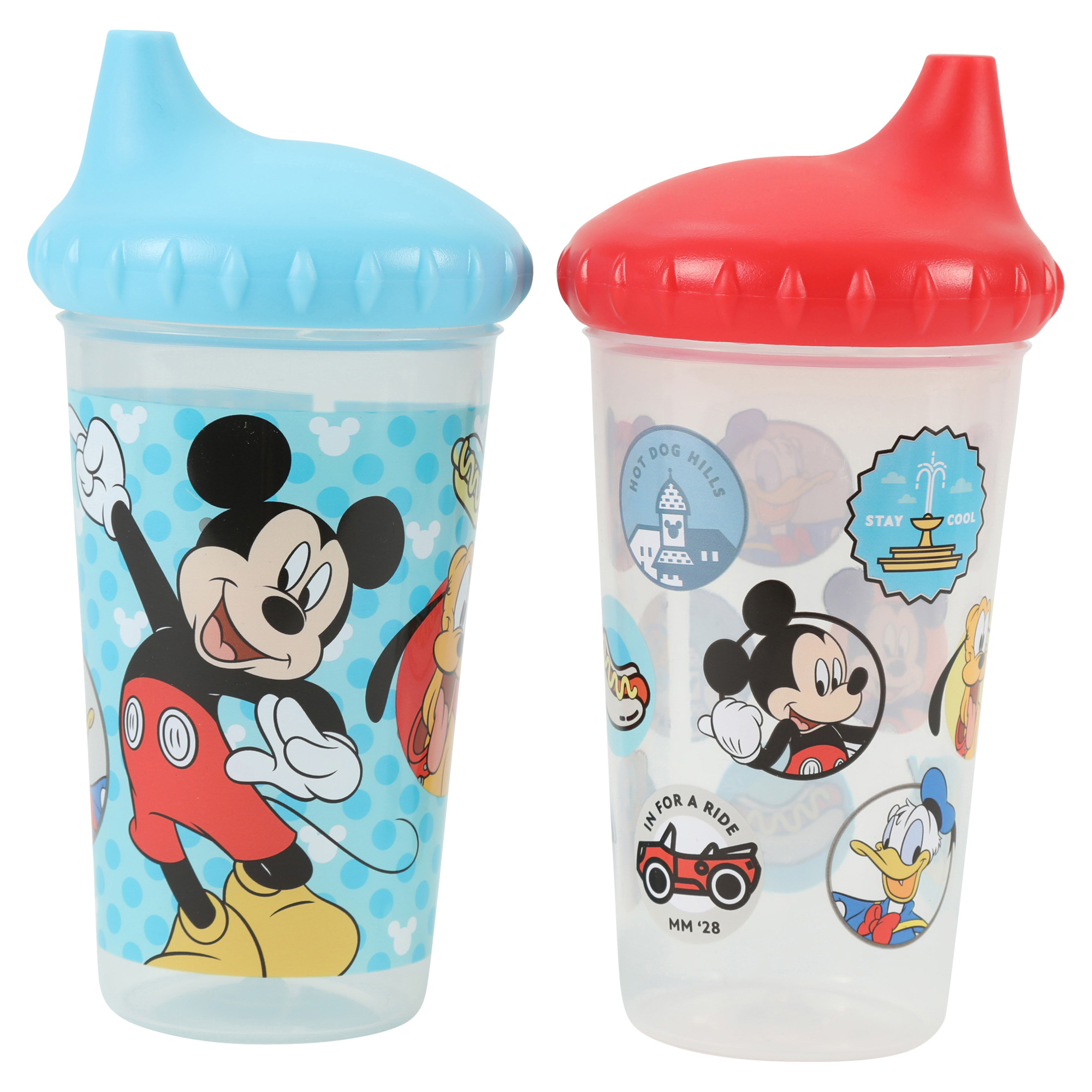 Mickey Mouse 2 Pack Slim Sippy Cup