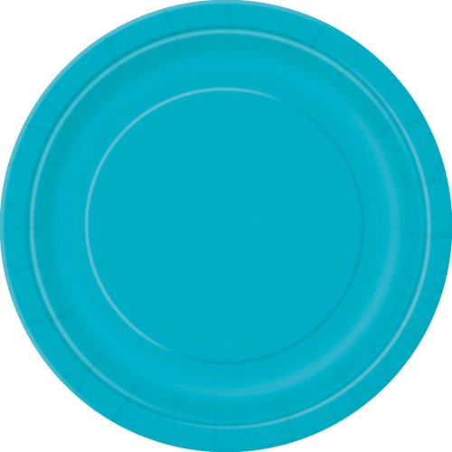 Paper Plates, 7 in, Teal, 50ct