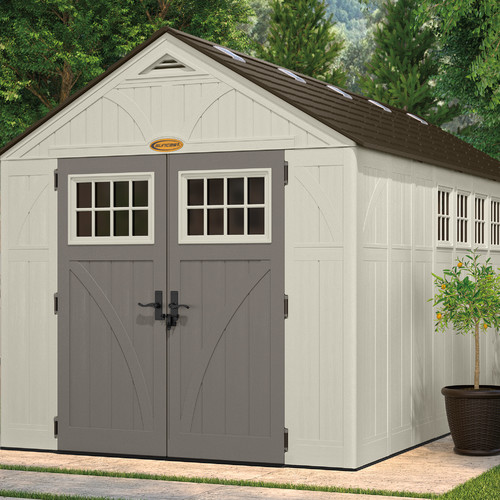Garden Sheds 8 X 16 suncast tremont 8 ft. 6 in. w x 16 ft. 2 in. d plastic storage