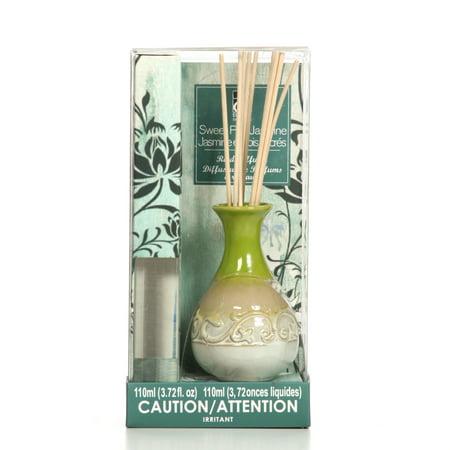 Hosley's 110 ml Sweet Pea Jasmine Diffuser with Ceramic Bottle Plus Reed sticks ()