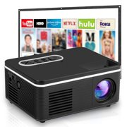 """1080P Supported Portable Movie Projector, 400L Mini Projector, 60"""" Display, Built-in Speaker, Compatible with TV Stick, TV Boxes, iPhone, Android, Tablet, Laptops, Video Games, HDMI, USB, TF, AV"""