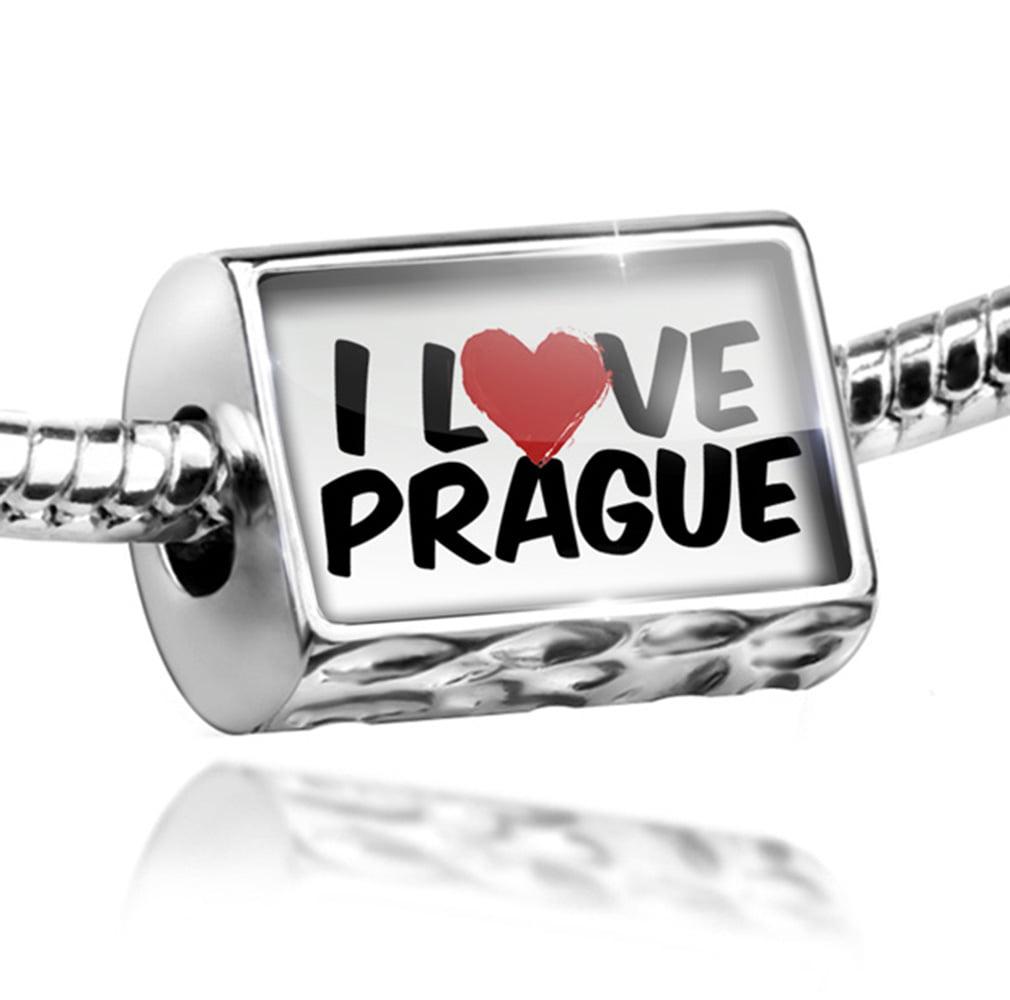 Bead I Love Prague Charm Fits All European Bracelets