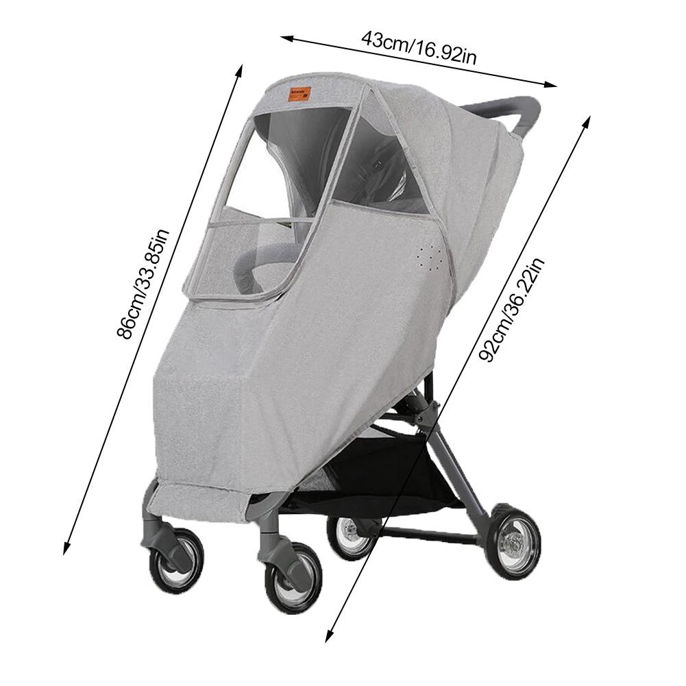 Black Universal Armrest Handle Sleeve Cover for Baby Stroller,Children Push Car 54 cm