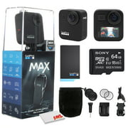 GoPro MAX 360 Waterproof Action Camera - With Cleaning Set + 64GB Memory Card and More.