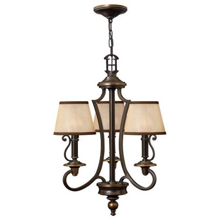 Hinkley Lighting H4243 Plymouth 3 Light 1 Tier Mini Chandelier