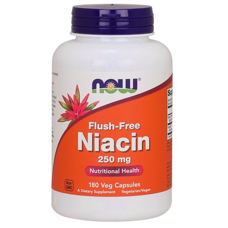 - NOW Supplements, Flush-Free Niacin 250 mg, 180 Veg Capsules