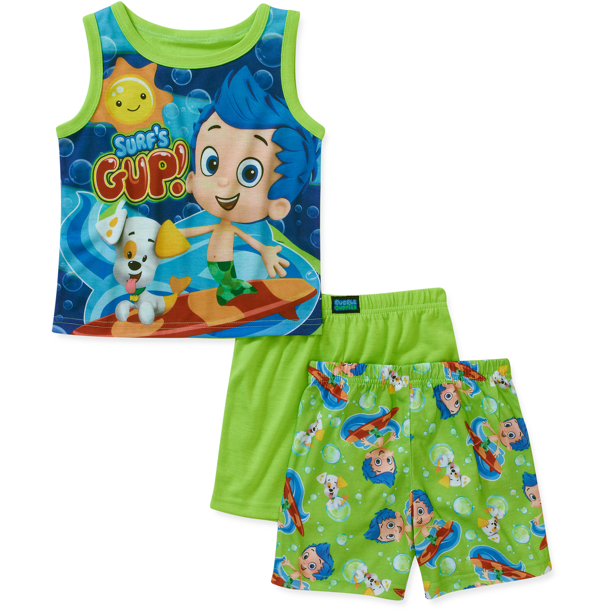 baby boys u0027 bubble guppies 3 piece tank and short pajama set