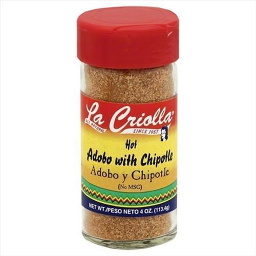 La Criolla 4 oz.  Hot Adobo With Chipotle, Case Of 12