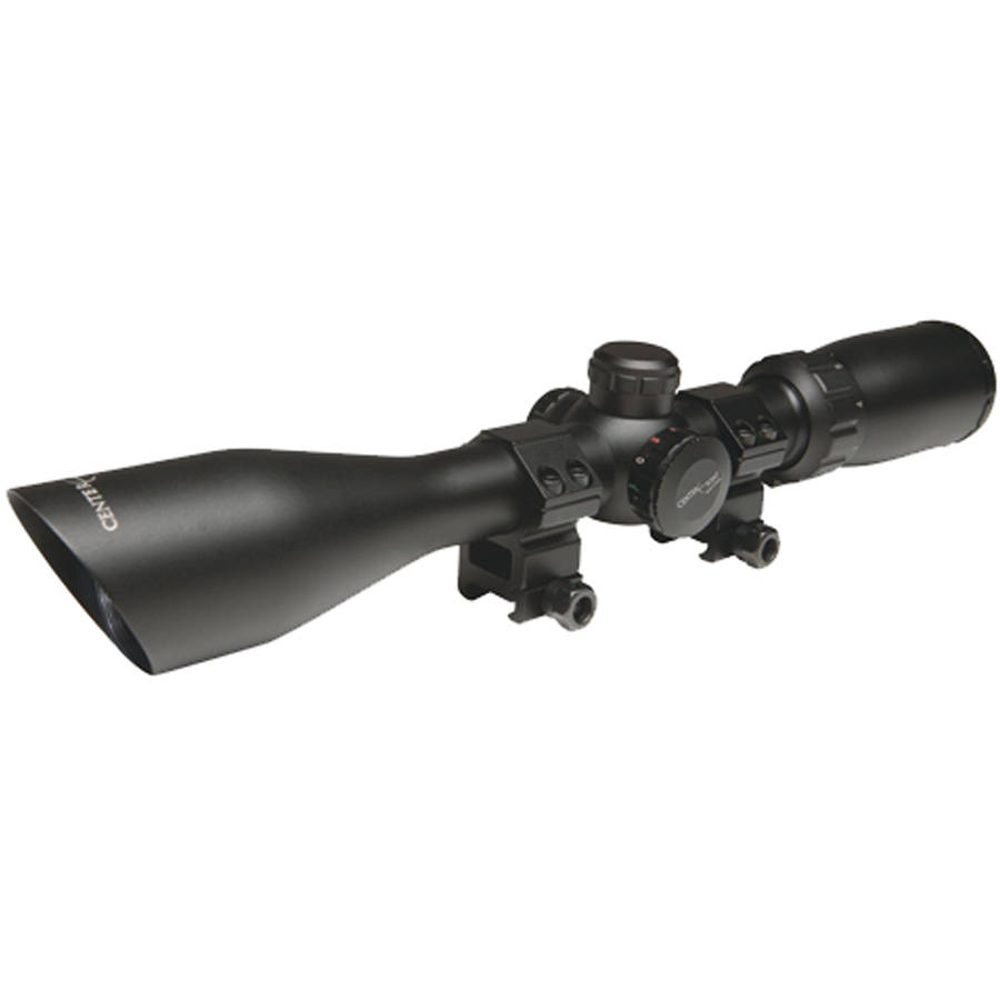 CenterPoint Rifle Scope 3-9x50mm with Red/Green Illumination, Mil-Dot Reticle