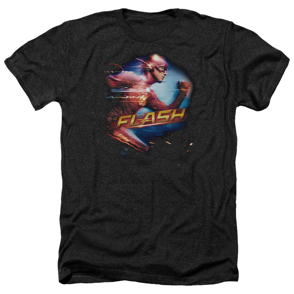 The Flash Fastest Man Mens Heather Shirt