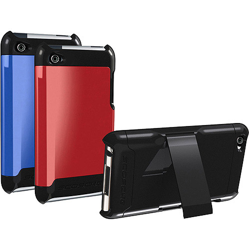 Scosche IT4K2D Polycarbonate Case with Interchangeable Backs for iPod touch 4G, Dark