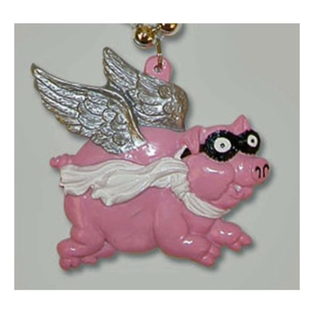 Beaded Wing (PIGS FLY WINGS PINK Mardi Gras Beads New Orleans Party, This listing is for one strand of beads (1 necklace) as pictured. By Unbranded Ship from US)