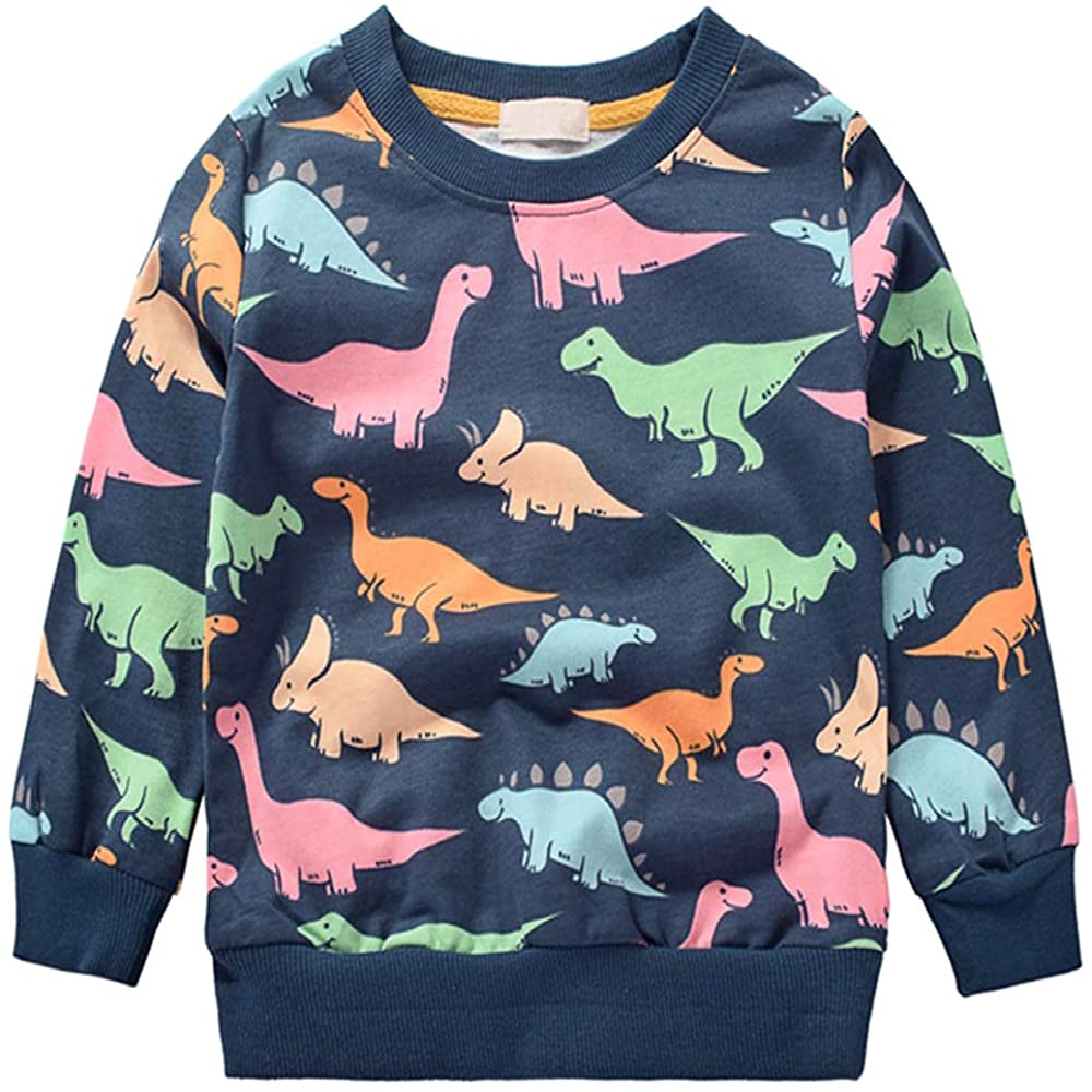Toddler Boys Sweatshirts Long Sleeve Sport Elephant T Shirt Dinosaur Pullover Cartoon Tee Shirt for Kids