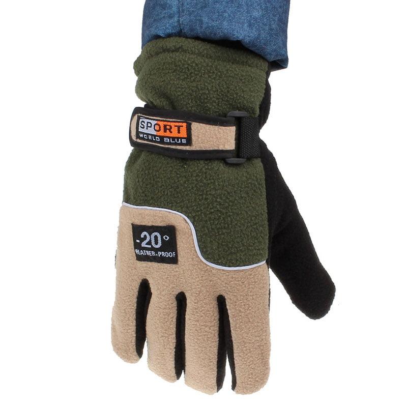 Windproof Men Thermal Winter Motorcycle Ski Snow Snowboard Gloves BU