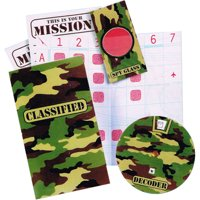 Military Camouflage Secret Decoder Games / Favors (4ct)