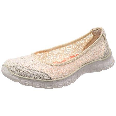 Skechers EZ Flex 3.0 Beautify Womens Slip on Ballet Flats Natural 10