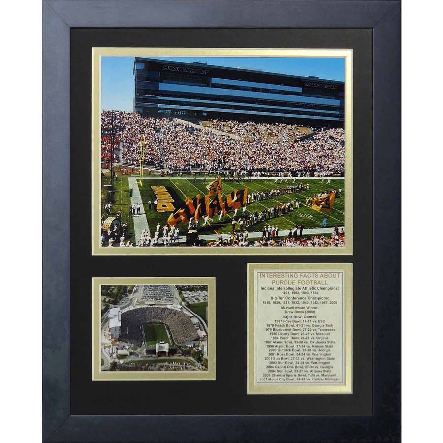 """Legends Never Die """"Purdue Boilermakers Ross-Ade Stadium"""" Framed Photo Collage, 11"""" x 14"""""""