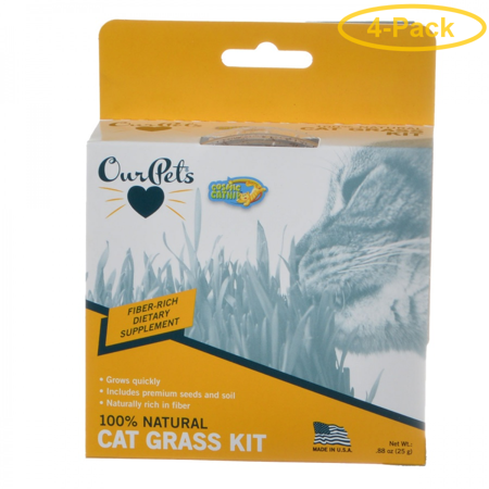 Kitty Grass (OurPets Cosmic Catnip Kitty Cat Grass 0.88 oz - Pack of 4 )