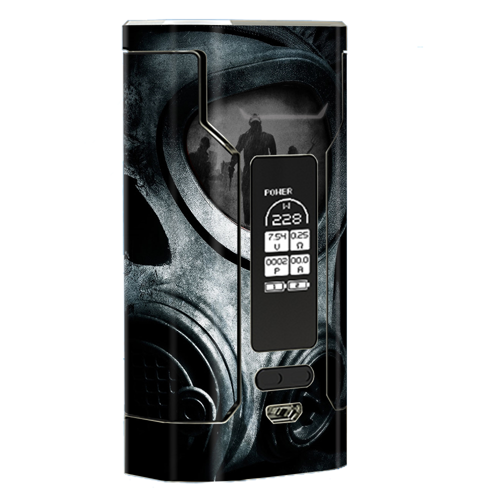 Skin Decal Vinyl Wrap For Wismec Predator 228 Vape Mod Stickers Skins Cover  Gas Mask War Apocolypse by Itsaskin