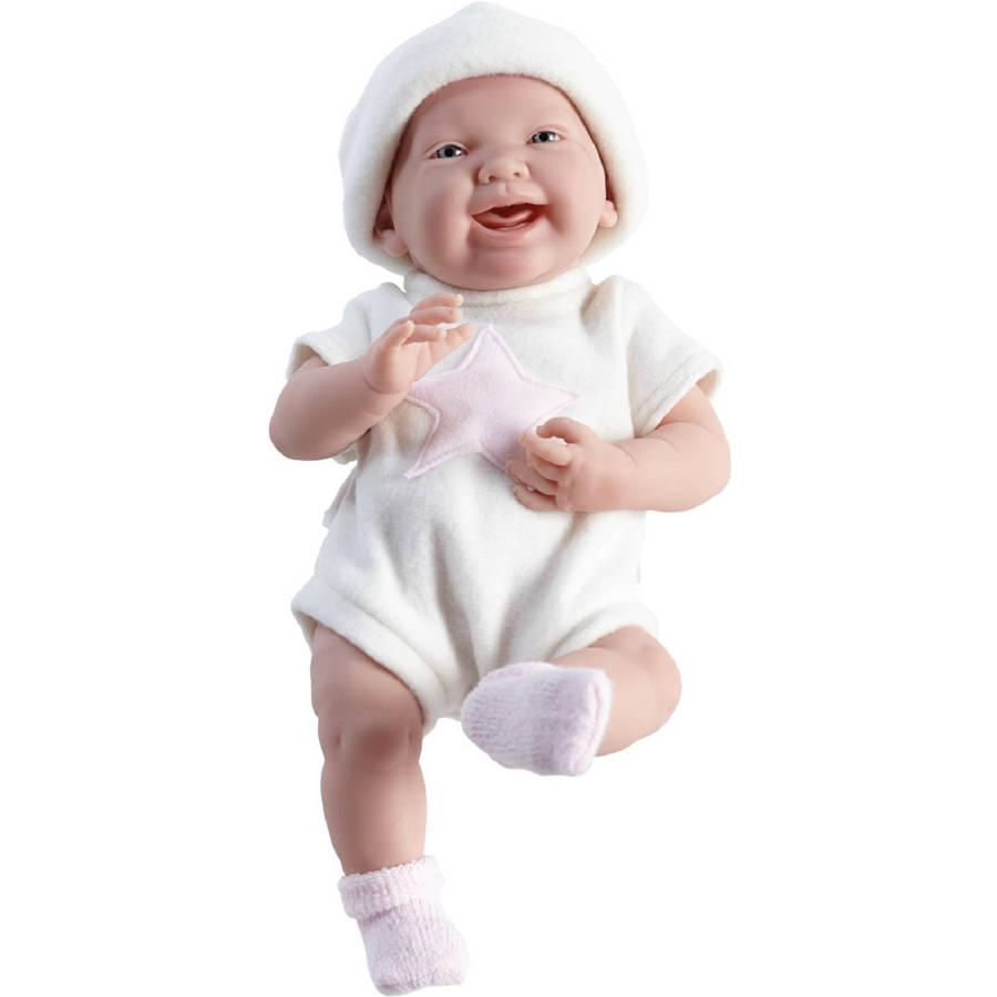 """JC Toys La Newborn 15"""" Real Girl Doll, Pink Star"""