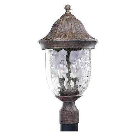 Progress Lighting P5429 Coventry Two-Light Post Lantern with Optic Hammered Clear Glass Shade by Progress Lighting