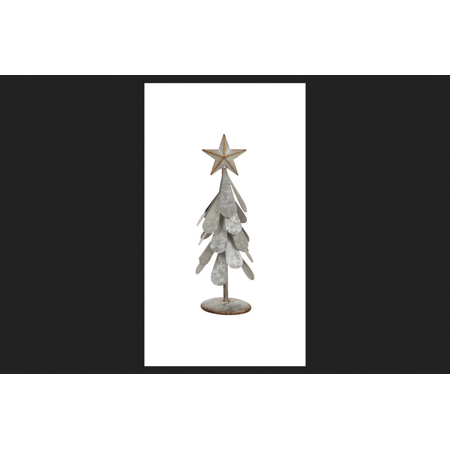Celebrations Christmas Tree Small Tabletop Decoration Galvanized 1 Pk Silver