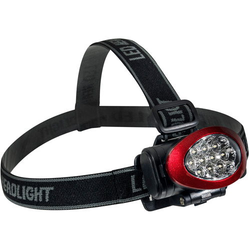 GoGreen Power 10 LED Headlight, Red, GG-113-10HLRD