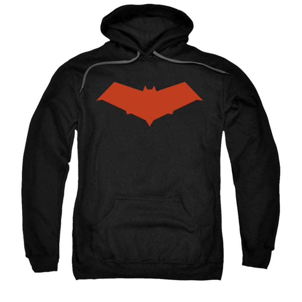 Batman Men's Red Hood Hooded Sweatshirt Black by Trevco