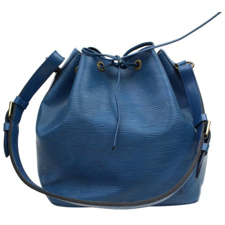 Louis Vuitton Toledo Blue Epi Petit Noe Drawstring Bucket Hobo 868280
