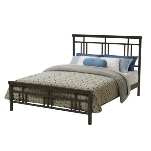 Amisco 60-inch Queen Size Metal Cottage Bed Queen Size in Dark Brown