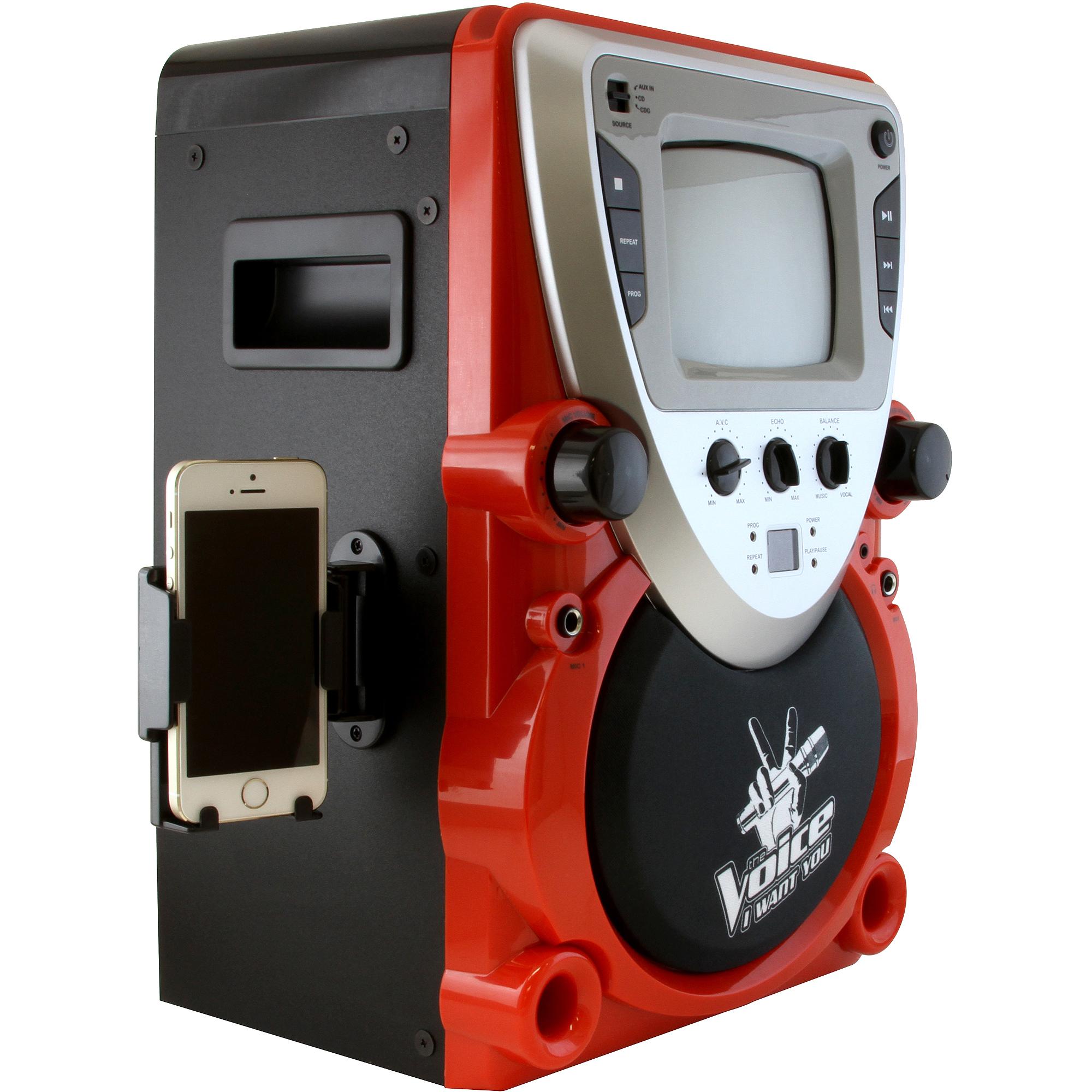 Sakar The Voice KTV2000-WAL CD Karaoke System with Screen
