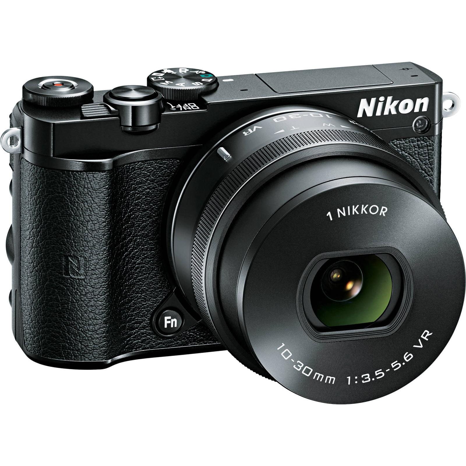 Nikon 1 J5 Wi-Fi Digital Camera & 10-30mm Lens (Black)