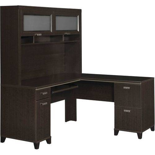 Bush Furniture Tuxedo L-Desk and Hutch