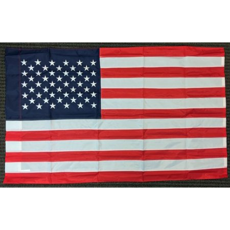 3x5 United States American Banner Flag USA 3 x 5 Feet Nylon Embroidered Applique Applique Embroidered Banner Flag
