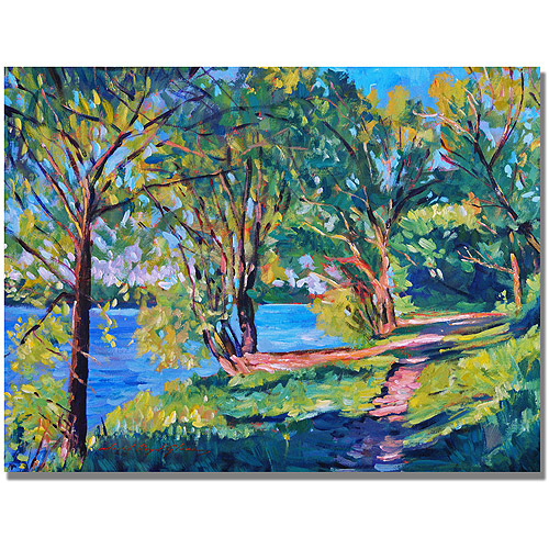 "Trademark Art ""Summers Lake"" Canvas Wall Art by David Lloyd Glover"