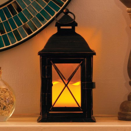 Smart Solar 84035 Lc 10  Antique Brown Aversa Led Candle Lantern