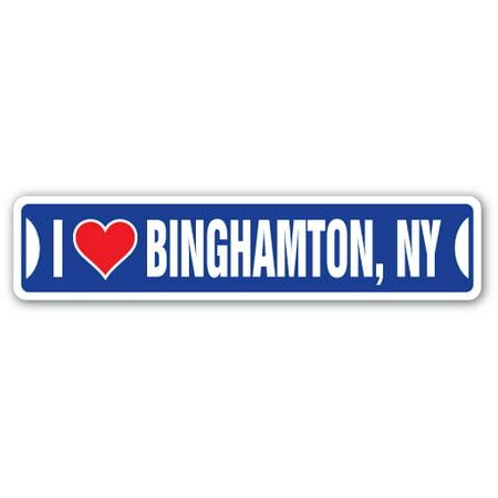I LOVE BINGHAMTON, NEW YORK Street Sign ny city state us wall road décor gift](Party City Binghamton)