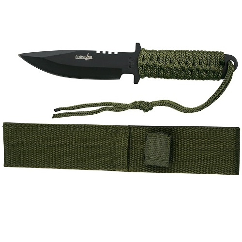 Survivor HK-7525 Outdoor Fixed Blade Knife 7.5in Overall