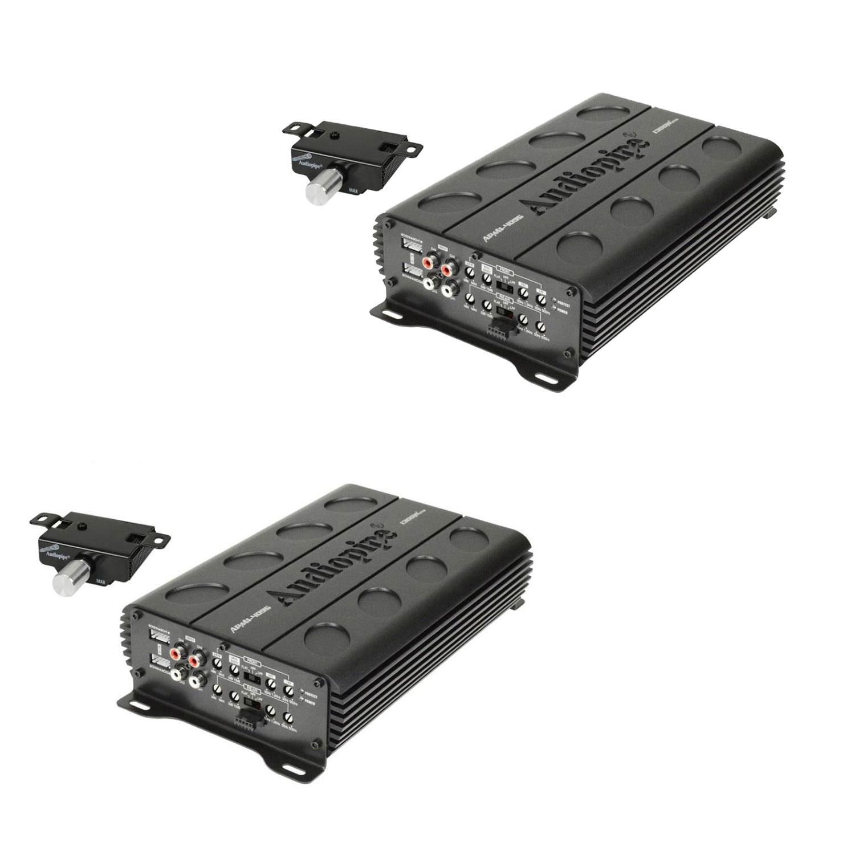 Audiopipe 1300 Watt MOSFET 4 Channel Amp Car Audio Speaker Amplifier (2 Pack)