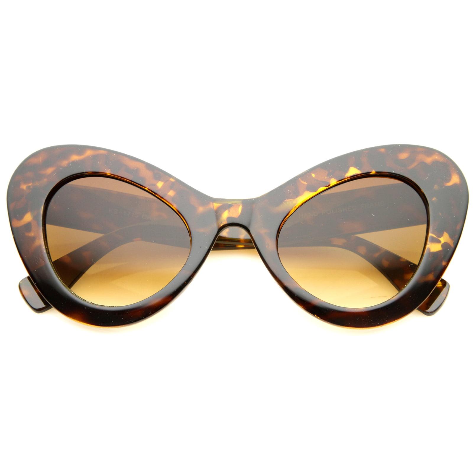 sunglassLA - Womens Cat Eye Sunglasses With UV400 Protected Gradient Lens - 55mm
