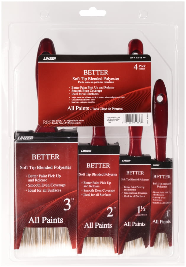 Linzer, Better 4-Piece Brush Set by Linzer Products Corp.