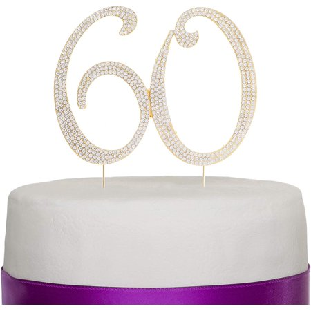 Halloween Party Cake Ideas (60 Cake Topper for 60th Birthday or Anniversary Gold Party Supplies & Decoration Ideas)
